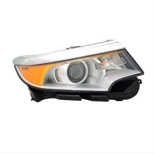 Headlamp Assembly Passenger Side Halogen W O Logo W O Sport Bright Chrome Bezel Nsf Certified For Ford Edge Oem Btza